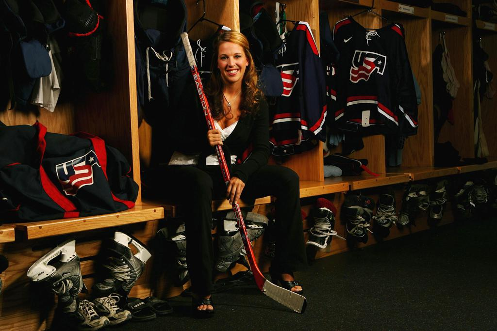 LAKE PLACID, NY - AUGUST 25:  Winny Brodt, member of the USA Women's Hockey Team, poses for a portrait on August 25, 2005 in Lake Placid, New York. (Photo by Ezra Shaw/Getty Images)